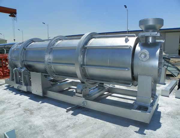 关于锦富华冷渣机设备的组成以及工作过程介绍